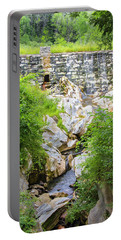 White Marble Mill Dam Portable Battery Charger by Betty Denise