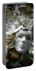 White Masked Celebration Portable Battery Charger