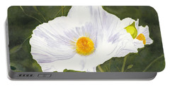 White Matilija Poppy  Portable Battery Charger
