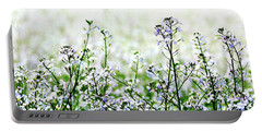 Portable Battery Charger featuring the photograph White Mustard 1479 Cr by Jerry Sodorff