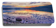 White Night Sunset On A Swedish Lake Portable Battery Charger