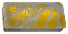 White Oak -yellow Orange Portable Battery Charger