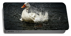 White Pekin Duck Portable Battery Charger