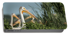 Portable Battery Charger featuring the photograph White Pelican 7-2015 by Thomas Young