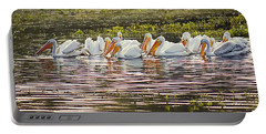White Pelican Parade Portable Battery Charger