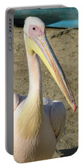White Pelican Portable Battery Charger by Sally Weigand