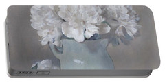 Gray Day For White Peonies Portable Battery Charger