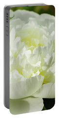Portable Battery Charger featuring the photograph White Peony by Cristina Stefan