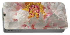Portable Battery Charger featuring the photograph White Peony by Sandy Keeton