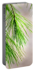 Portable Battery Charger featuring the photograph White Pine Branch by Christina Rollo