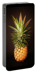 White Pineapple King Portable Battery Charger