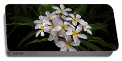 White Plumerias In Bloom Portable Battery Charger