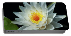 Portable Battery Charger featuring the photograph White Pond Lily by Arthur Dodd