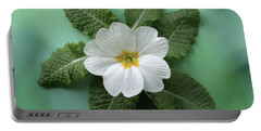 White Primrose Portable Battery Charger by Terence Davis