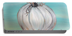 White Pumpkin Portable Battery Charger