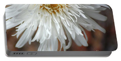 White Pure Flower Portable Battery Charger