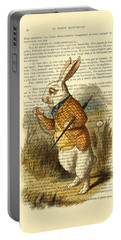 White Rabbit, I Am Late, I Am Late, For A Very Important Date Portable Battery Charger