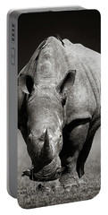 White Rhinoceros  In Due-tone Portable Battery Charger