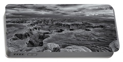 White Rim Overlook Monochrome Portable Battery Charger by Alan Vance Ley