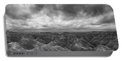 White River Valley Overlook Panorama 2 Bw Portable Battery Charger