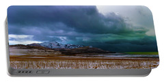 Portable Battery Charger featuring the photograph White Rock Bay Storm by Norman Hall