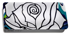 White Rose Portable Battery Charger by Annie Walczyk