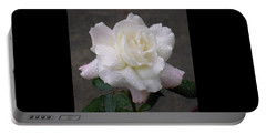 White Rose In Rain - 3 Portable Battery Charger