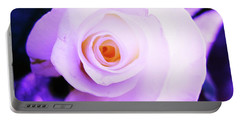 White Rose Portable Battery Charger by Mary Ellen Frazee