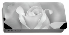 Portable Battery Charger featuring the photograph White Rose Purity by Jennie Marie Schell
