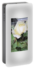 White Rose - Sympathy Card Portable Battery Charger