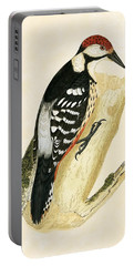 White Rumped Woodpecker Portable Battery Charger