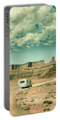 Portable Battery Charger featuring the photograph White Rv In Utah by Jill Battaglia