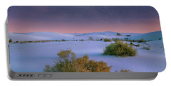 White Sands Starry Night Portable Battery Charger by Tim Fitzharris