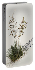 Portable Battery Charger featuring the photograph White Sands Yucca by Allen Sheffield