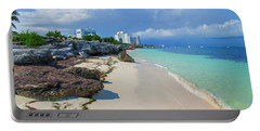 White Sandy Beach Of Cancun Portable Battery Charger