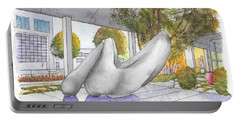 White Sculpture In Santa Monica Blvd., Beverly Hills, California Portable Battery Charger by Carlos G Groppa