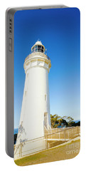 White Seaside Tower Portable Battery Charger
