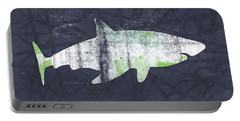 White Shark- Art By Linda Woods Portable Battery Charger by Linda Woods