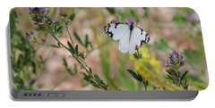 White-skipper On Lupine Portable Battery Charger
