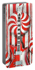 White Stripes Guitar Portable Battery Charger