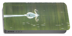 White Swan Silhouette Portable Battery Charger