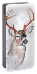 White-tailed Deer Portable Battery Charger by Barbara Keith