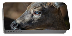 White Tailed Deer Facial Profile Closeup Portrait Portable Battery Charger