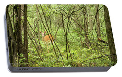 Portable Battery Charger featuring the photograph White-tailed Deer In A Pennsylvania Forest by A Gurmankin