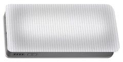 White Texture Striped Carton Abstract Portable Battery Charger