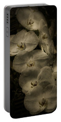 Portable Battery Charger featuring the photograph White Textured Flowers by Ryan Photography