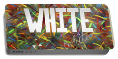 Portable Battery Charger featuring the painting White by Thomas Blood