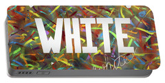 White Portable Battery Charger