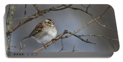 White-throated Sparrow Portable Battery Charger by Living Color Photography Lorraine Lynch