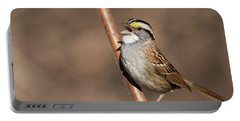 Portable Battery Charger featuring the photograph White-throated Sparrow by Mircea Costina Photography